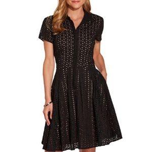 Boston Proper Black Shirt Dress
